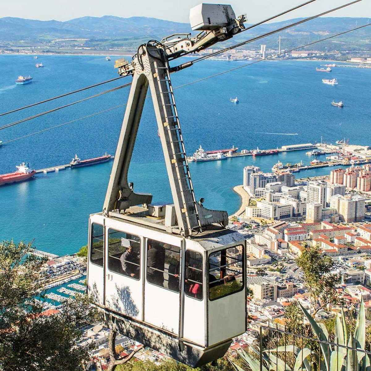 With Cable Car To The Top Of