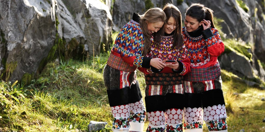 Traditional costumes in Greenland