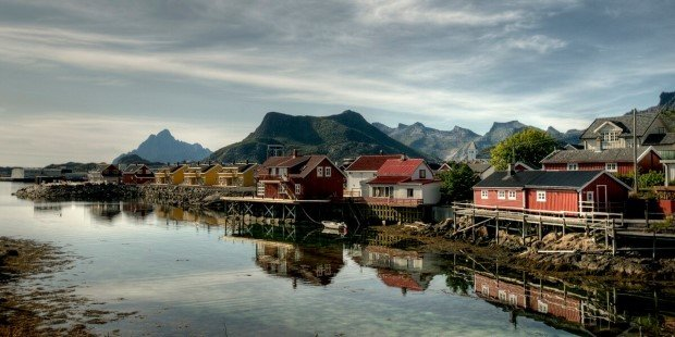 Svolvær in the Lofoten Islands.