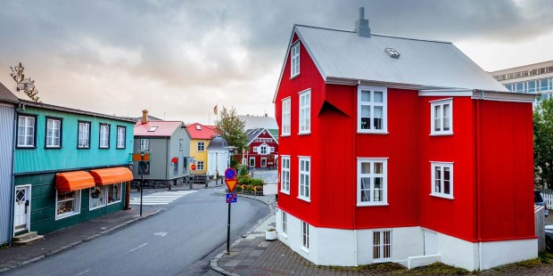 Experience the colorful town of Reykjavik.