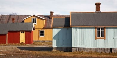 Ny-Ålesund and its quirky mix of old and new buildings.