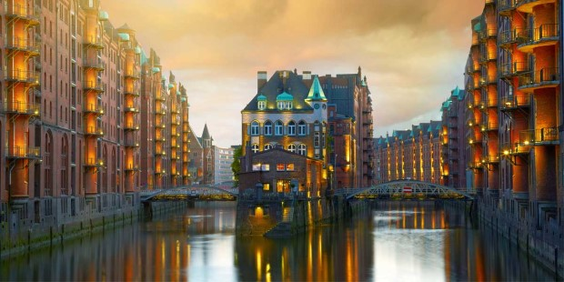 The canals of Hamburg.