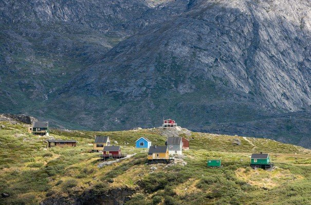 Kapisillit is a small settlement of just under 100 people at the head of the Nuuk fjord