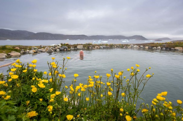 Uunartoq is an uninhabited island blessed with natural hot springs.
