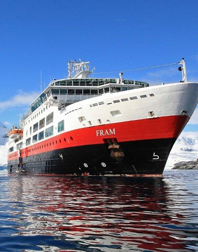 MS Fram in Antarctica