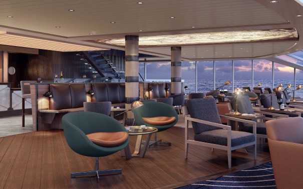 The Explorer Lounge on MS Fridtjof Nansen and MS Roald Amundsen