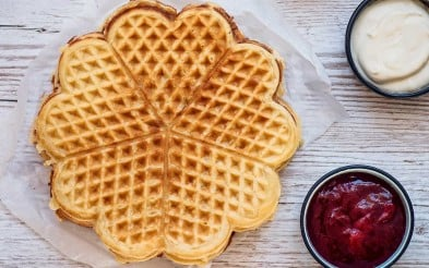 Enjoy waffles from Multe bakery.