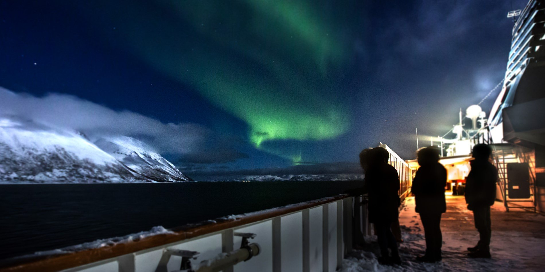 Hunting the northern lights on board MS Nordnorge.