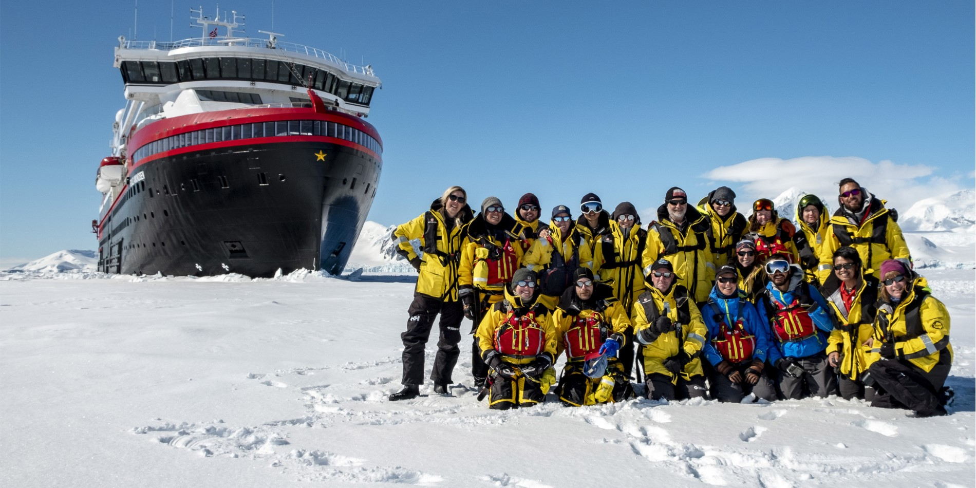 Landing with MS Roald Amundsen's expedition team in Antarctica