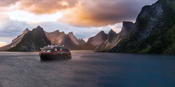 Join MS Roald Amundsen through the Lofoten Islands.