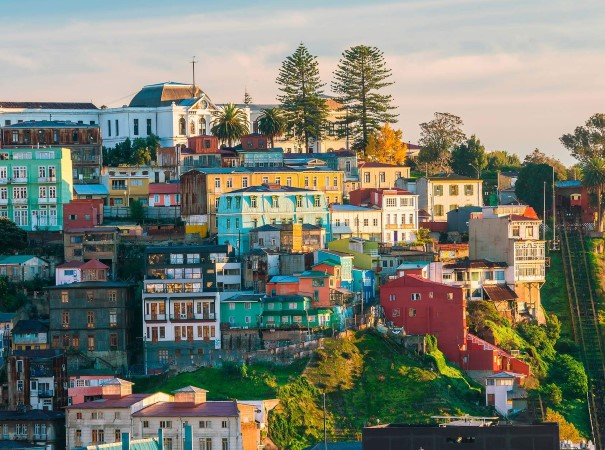 Explore the colorful buildings of the UNESCO World Heritage city of Valparaiso, Chile.
