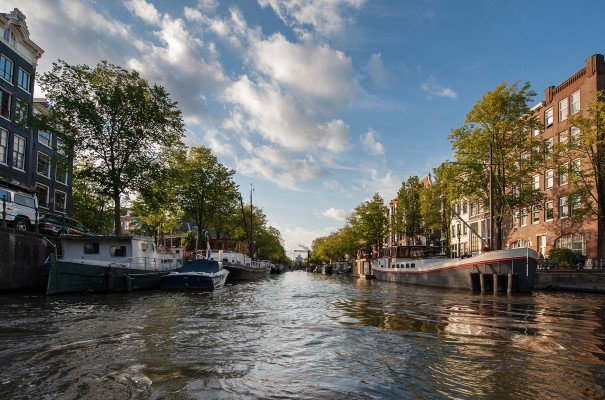 The canals of Amsterdam. The coast of Europe offers beautiful scenery, interesting ports and a rich variety of cultural and natural heritage.