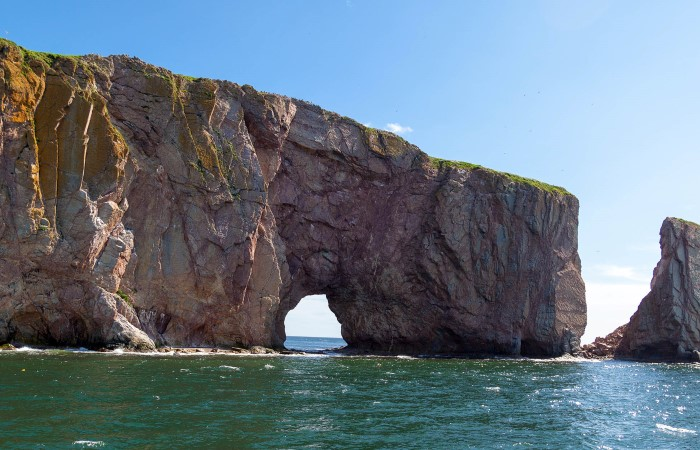 "Perce Rock, often referred to as ""The Rock"" or ""Le Roche"" by locals is one of the highlights of the Gaspé Peninsula."